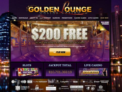 Golden Lounge Casino Home
