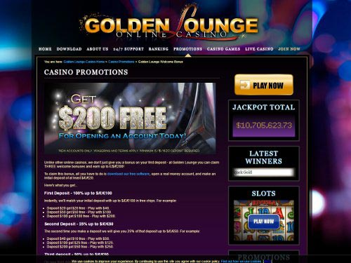 Golden Lounge Casino Welcome Bonus