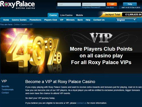 Roxy Palace Casino VIP