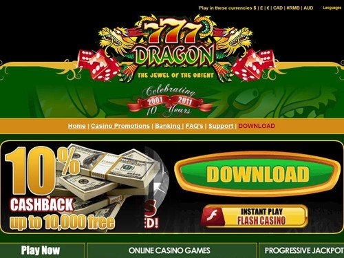 777 Dragon Casino CashBack Bonus