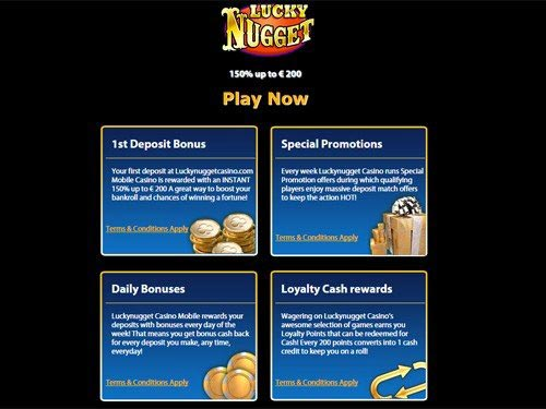 Lucky Nugget Mobile Casino Promotions