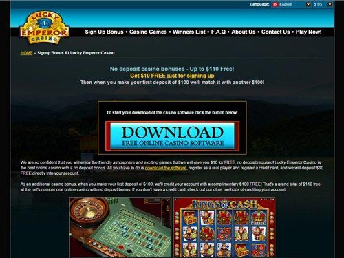 sign up bonus casino