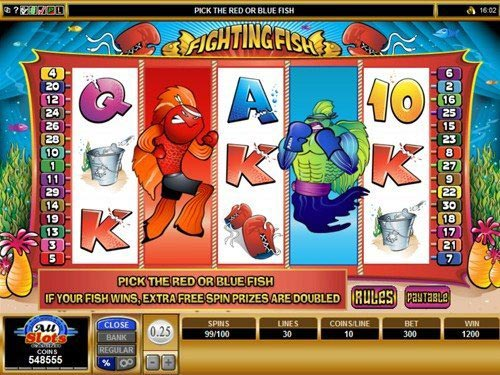 Fighting Fish Slot Extra Free Spins Feature