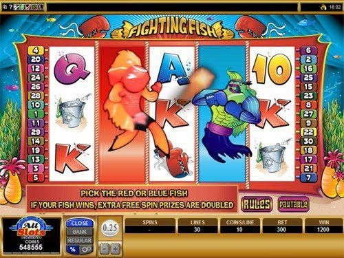 Fighting Fish Slot Bonus Feature