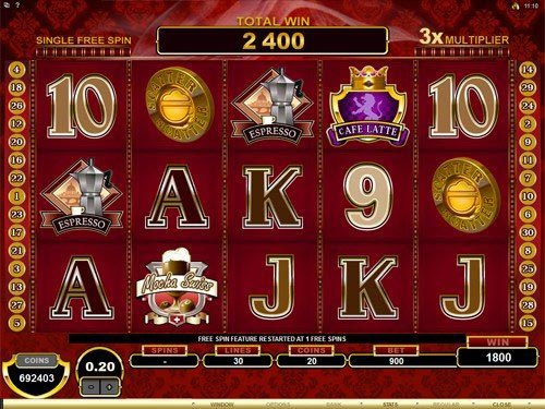 CashOccino Slot Free Spins Win