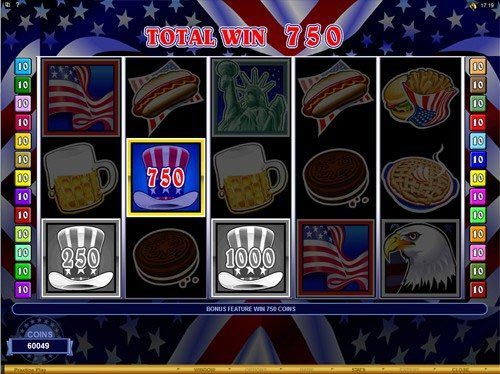 Bars and Stripes Slot Total Win