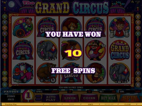 The Grand Circus Slot Free Spins Win