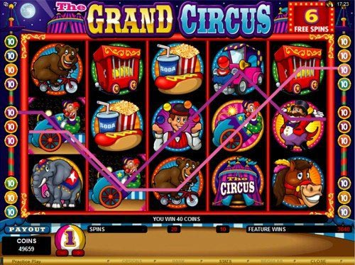 The Grand Circus Slot Free Spins