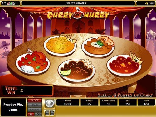 Curry in a Hurry Slot Bonus Game