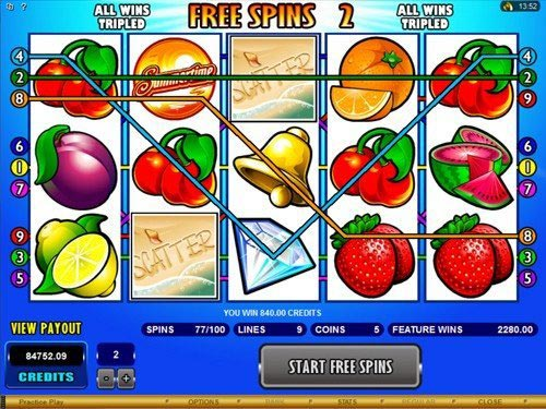 Summertime Slot Free Spins
