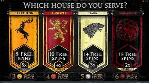 Game of Thrones – 15 Lines Slot Bonus Game Feature