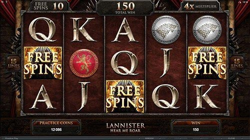 Game of Thrones – 15 Lines Slot Bonus Free Spins