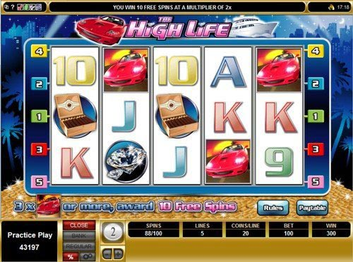 The High Life Slot Free Spins Feature