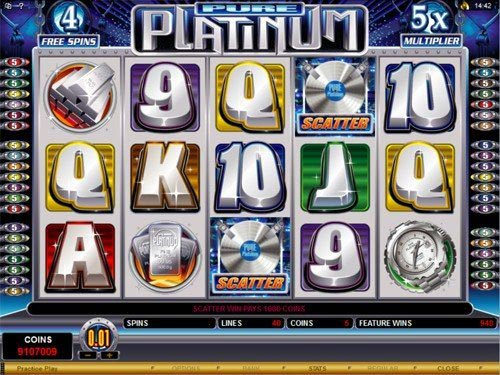 Pure Platinum Slot Free Spins Game