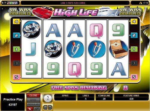 The High Life Slot Bonus Free Spins