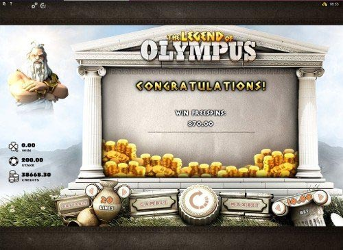 The Legend of Olympus Slot Total Win