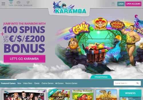 Karamba Casino Home