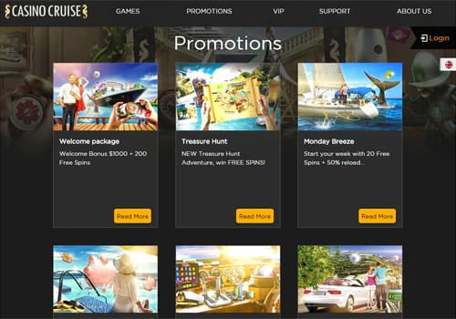 Casino Cruise Promotion Page