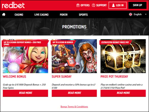 Redbet Casino Promotions