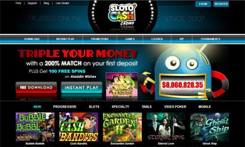Sloto'Cash Casino Home