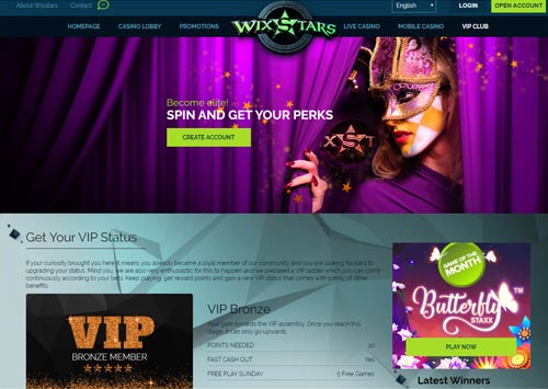 Wixstars Casino VIP
