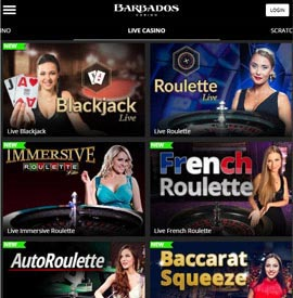 live dealers Barbados Casino
